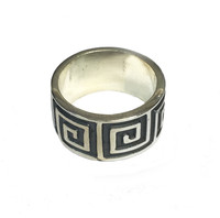 Silver Maze Ring