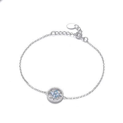 'Sky at Night' Blue Topaz Cubic Zirconia Bracelet