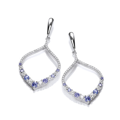 'Black Tie Elegance' Cubic Zirconia Earrings