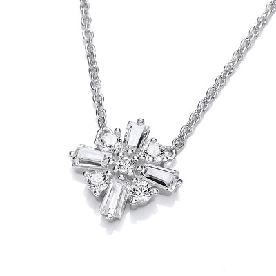Burning Bright Cubic Zirconia Star Necklace
