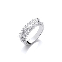 Silver and CZ Wreath Ring