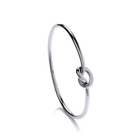 Round Silver Bangles