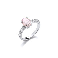 Oh So Pale Pink Diamond CZ Ring