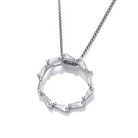 Silver and CZ Catherine Wheel Pendant