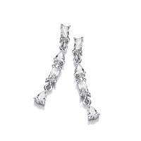 'Let's Party' Cubic Zirconia Drop Earrings
