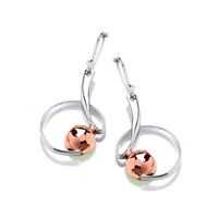 Silver & Copper Riddle Earrings