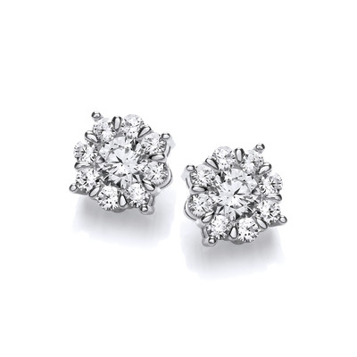 Silver & Cubic Zirconia Capella Earrings