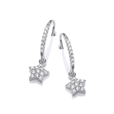 'Catch a Star' Silver & Cubic Zirconia Earrings