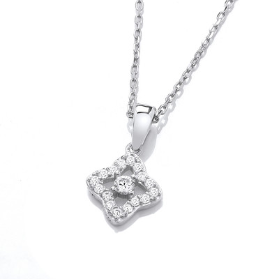 Silver & Cubic Zirconia Cathedral Necklace