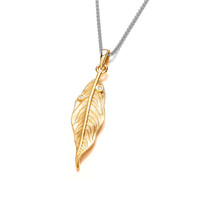 Silver, Cubic Zirconia & Gold Vermeil Willow Pendant