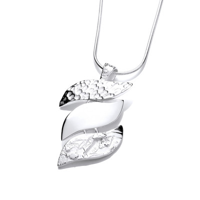Autumn Leaves Silver Pendant
