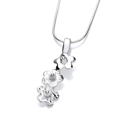 Simple Silver Flower Pendant