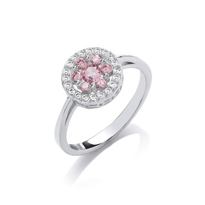 Pretty in Pink Cubic Zirconia Ring