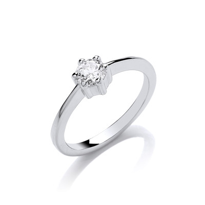 The Only Cubic Zirconia Solitaire Ring