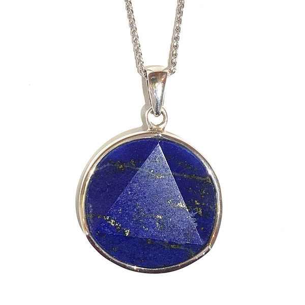 Lapis Star with 16-18 silver chain