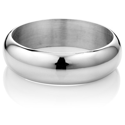 Classic Wide Sterling Silver Bangle