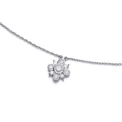 Cubic Zirconia Bubble Star Necklace