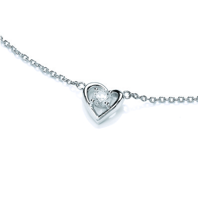 My Love Heart Cubic Zirconia Necklace