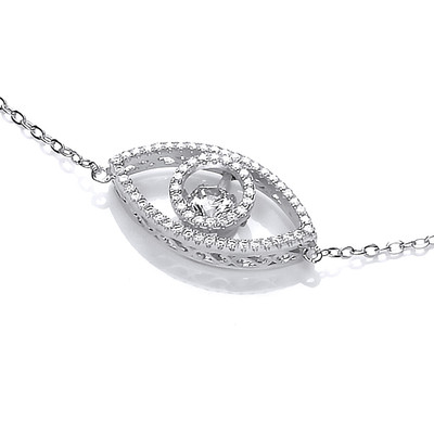 Shiva Eye Dancing Cubic Zirconia Necklace