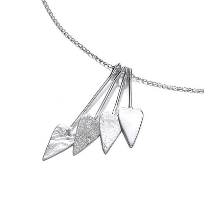 'Straight from the Heart' Silver Necklace